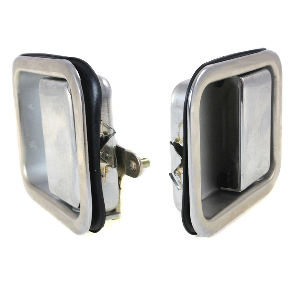 NEW RIGHT SIDE MIRROR STAINLESS STEEL FITS 1987-1994 JEEP WRANGLER CH1321147