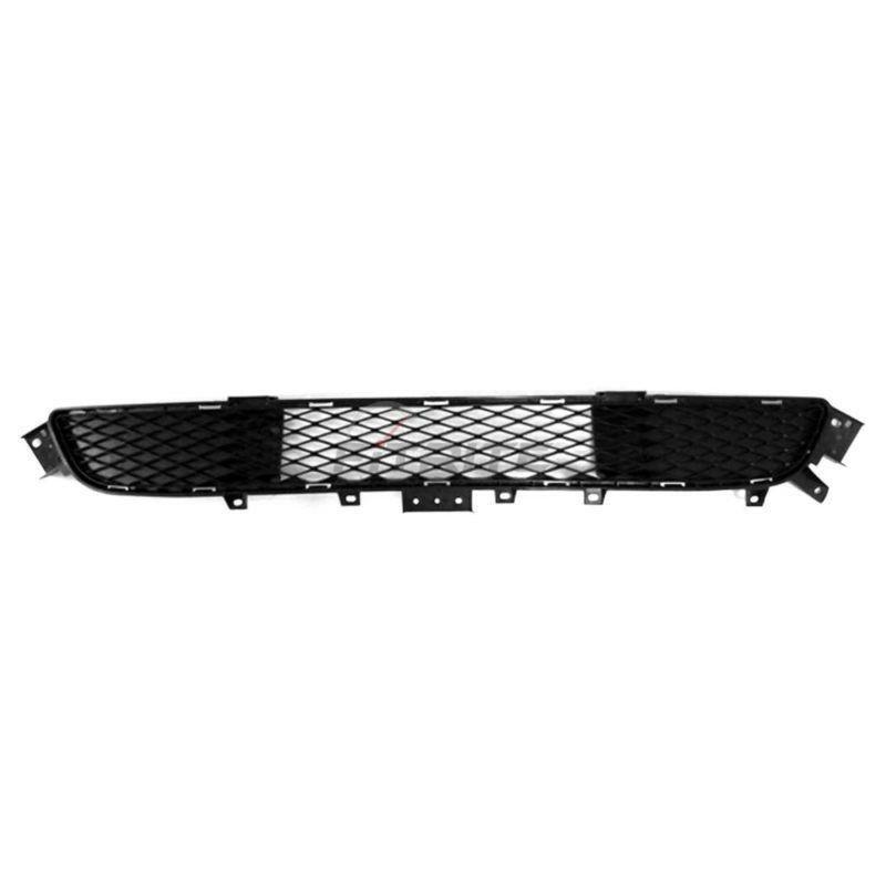 Bumper Grille For 2014-2015 Infiniti Q50 Center Textured Black Plastic