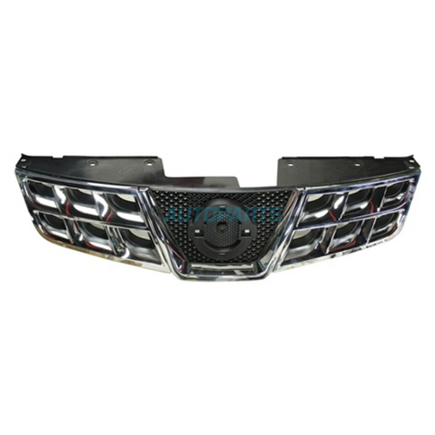 New Front Grille Chrome/black Fits 2011-2013 Nissan Rogue NI1200249